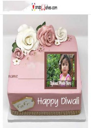Diwali-cake-with-frame-for-photos
