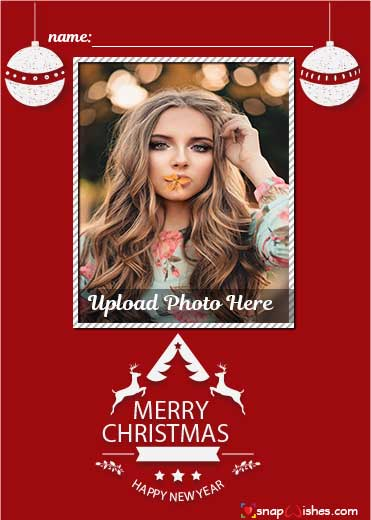 Free Online Christmas Card Maker Name