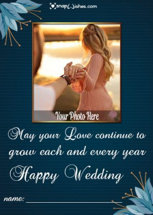 Marriage-Wishes-Photo-Frame-with-Name