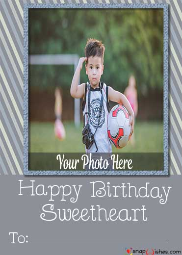 Online Birthday Card Maker With Name Name Photo Card Maker