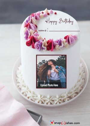 birthday-cake-with-photo-frame-and-name