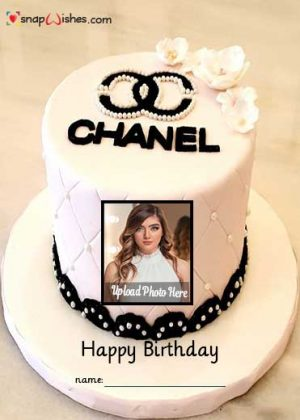 chanel-birthday-cake-with-name-and-photo