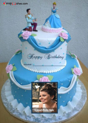 cinderella-birthday-cake-with-name-and-photo