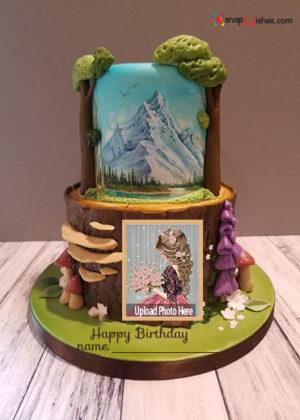 creative-fondant-birthday-cake-with-name-and-photo-edit