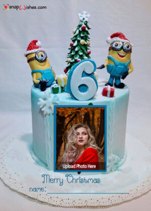 merry-christmas-minions-cake-image-with-name-and-photo-edit
