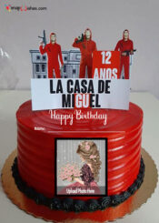 money-heist-birthday-cake-with-name-and-photo