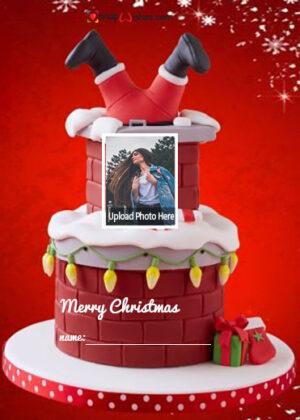 santa-cake-for-christmas-with-name-and-photo