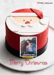 santa-christmas-cake-photo-frame-online