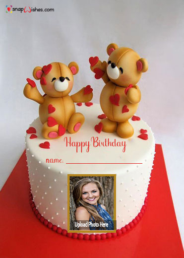 teddy-bear-birthday-cake-with-name-and-photo