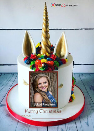 unicorn-christmas-cake-with-name-and-photo