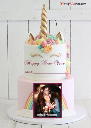 unicorn-happy-new-year-cake-with-name-and-photo